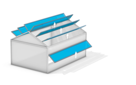 Lock Open-Roof ventilation for applications