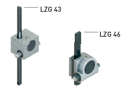 Lock LZG43 and LZG46 for glass construction