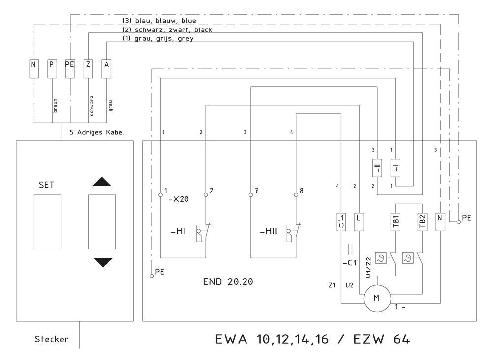 Connection circuit diagram EWA + TST | Lock